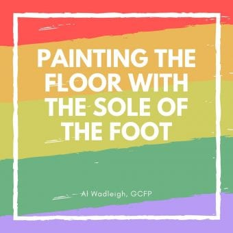 Alexander Yannai lesson Painting the Floor with the Sole of the Foot
