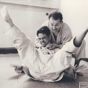 Dr. Feldenkrais demonstrating Judo in France